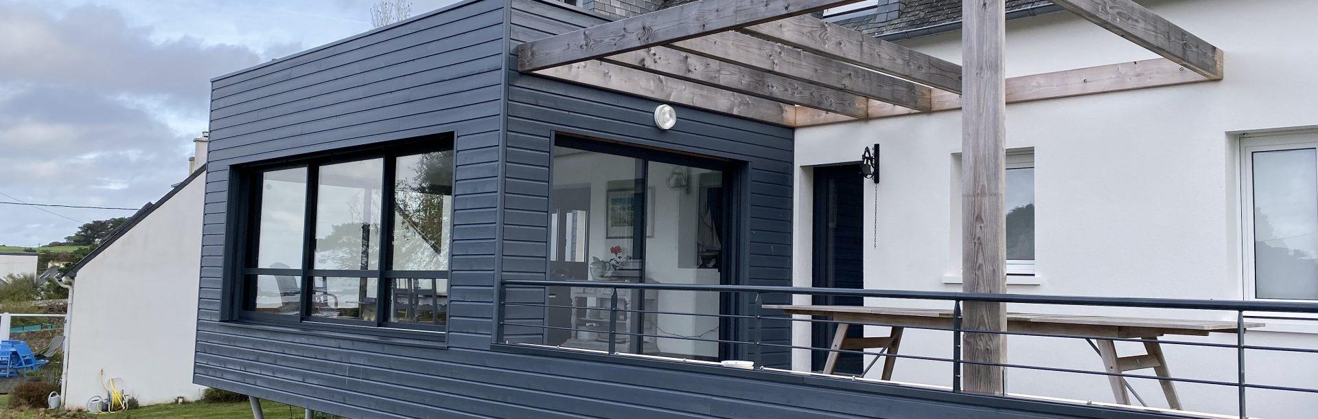 Lamaisondubatiment Bardage Maisonneuve Renovation Habitation Terrasse