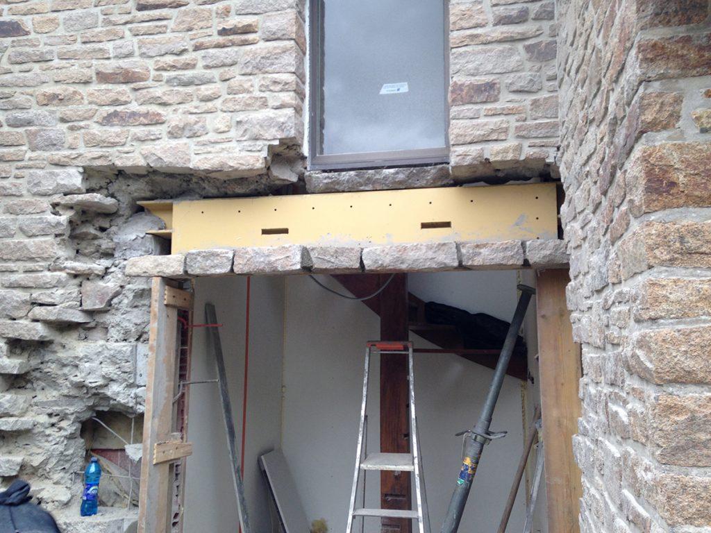L'isolation a la laine de verre a accompagné cette rénovation.
